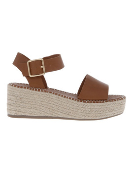 Capri Tan Sandal by Miss Shop