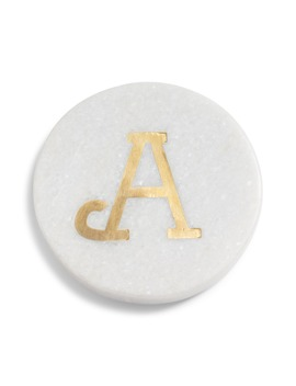 Marble Monogram Coaster by Nordstrom At Home
