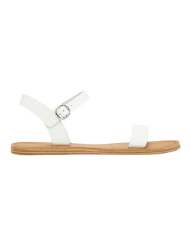Keira White Leather Sandal by Windsor Smith