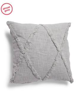 20x20 Linen Look Tufted Pillow by Tj Maxx