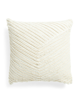 22x22 Textured Embroidered Cushion by Tj Maxx