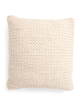 20x20 Chunky Woven Wool Blend Pillow by Tj Maxx