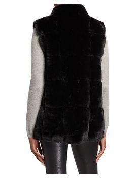 Modern Faux Fur Vest by Belle Fare