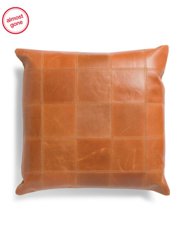 20x20 Leather Pillow by Tj Maxx