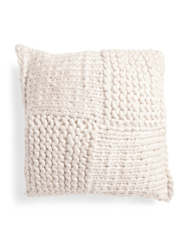 20x20 Hand Knit Chunky Pillow by Tj Maxx