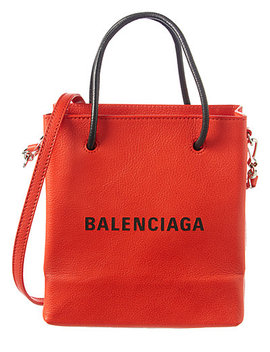 Balenciaga Marquetry Logo Leather Tote by Balenciaga