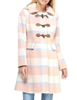 Annelise Plaid Hooded Coat by Gal Meets Glam Collection