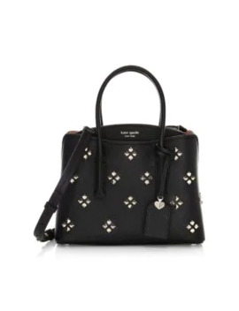 Medium Margaux Floral Spade Leather Satchel by Kate Spade New York