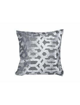 "Velvet Geo Grey Decorative Cushion, 20"" X 20\ by Urban Loft By Westex"