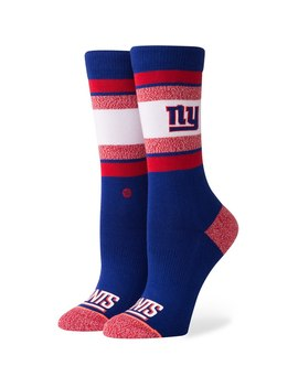 New York Giants Stance Women's Striped Crew Socks by Stance