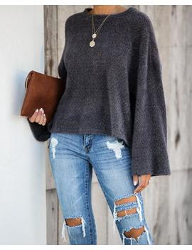 South For The Winter Soft Knit Top   Charcoal by Vici