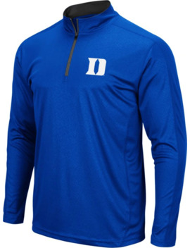 Colosseum Men's Duke Blue Devils Duke Blue Loggerhead Quarter Zip Shirt by Colosseum