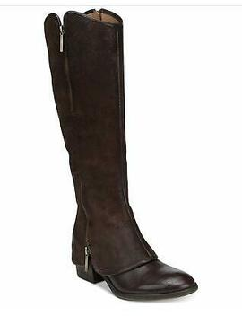 Donald J Pliner Womens Devi Leather Almond Toe Knee High, Brown, Size 7.0 Fp Gu by Donald J Pliner