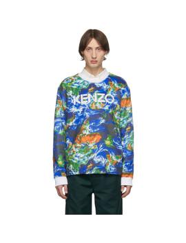 Blue 'kenzo World' Sweatshirt by Kenzo