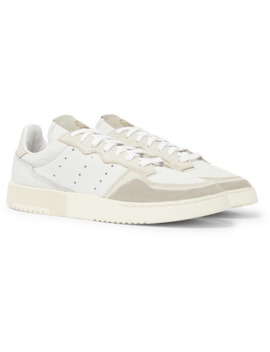 Supercourt Suede Trimmed Leather Sneakers by Adidas Originals