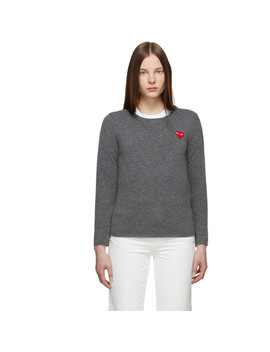 Grey Heart Patch Sweater by Comme Des GarÇons Play