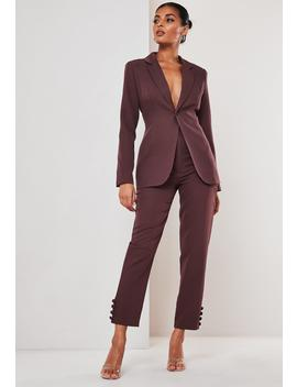 Purple Co Ord Skinny Classic Blazer by Missguided