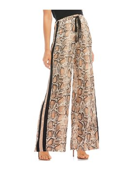 Jane Snake Print Wide Track Pant by Lucy Paris