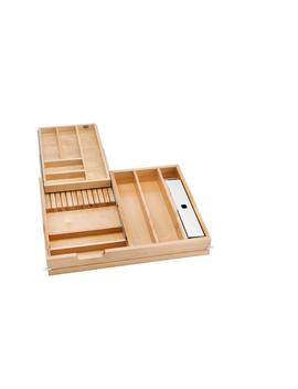 28.5 In. Tiered Cutlery Drawer With Soft Close Slides For Frameless by Rev A Shelf