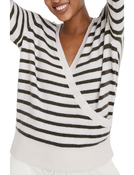 Elthorne Stripe Wrap Front Sweater by Madewell