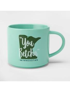 16oz Porcelain Minnesota You Betcha Mug Teal   Threshold™ by Threshold