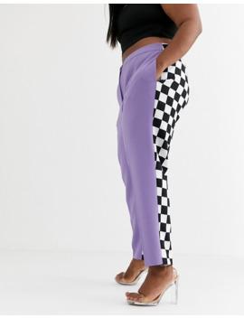 Asos Design X Christian Cowan Curve Lilac Two Piece Suit Cigarette Pants by Asos Design