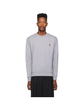 Grey Ami De Coeur Sweatshirt by Ami Alexandre Mattiussi