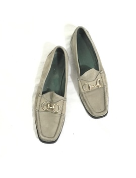 Gucci Gray Suede Jordan Loafers by Gucci