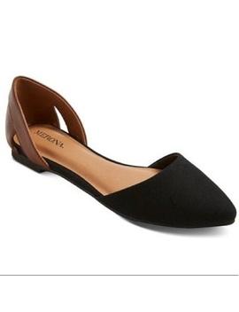 Merona Celine Cognac & Black D'orsay FlatsNwt by Merona