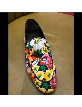 Gucci Jordan Loafer In A Printed Floral Print 8Nwt by Gucci