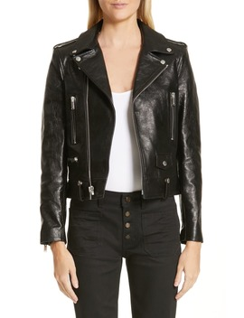 Classic Leather Moto Jacket by Saint Laurent