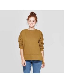 Women's Long Sleeve Crewneck Fleece Tunic Pullover Sweatshirt   Universal Thread™ by Universal Thread