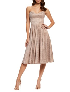 Vivenne Strapless Fit & Flare Dress by Dress The Population