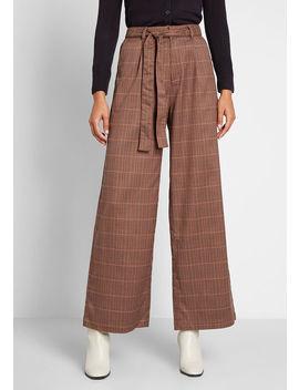 The Savannah Plaid Wide Leg Pants by Modcloth