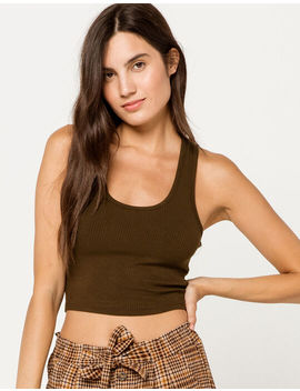 Bozzolo Racerback Olive Womens Tank Top by Tilly's