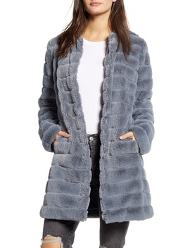 Anything For You Quilted Faux Fur Coat by Bb Dakota