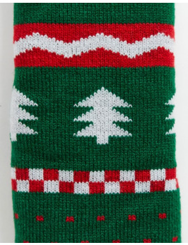Asos Design Christmas Dinosaur Fairisle Slipper Sock by Asos Design