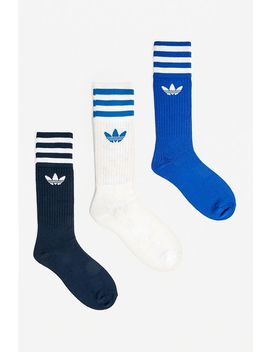 Adidas Blue Crew Socks 3 Pack by Adidas