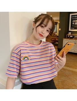 Rainbow Stripe Tshirt by Dog Dog