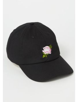 Black Rose Embroidered Dad Hat by Rue21