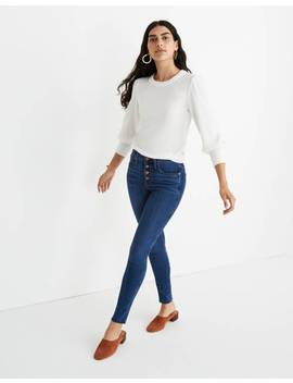 "10"" High Rise Skinny Jeans In Brinville Wash: Button Front Tencel™ Denim Edition by Madewell"
