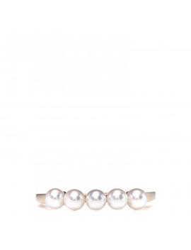 Mikimoto 18 K Yellow Gold Akoya Peal 5 Pearl Row Ring 54 7 by Mikimoto