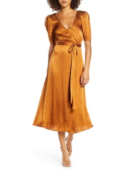 Francesca Wrap Midi Dress by Fame And Partners