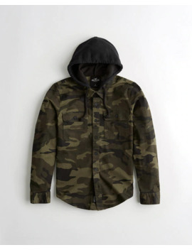 Hooded Utility Shirt by Hollister