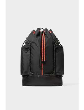 Black Backpack With Cords by Zara