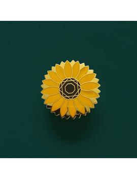 Sunflower Hard Enamel Pin // Floral Pin // Botanical Pin by Etsy