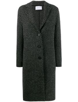 Herringbone Buttoned Coat by Harris Wharf London