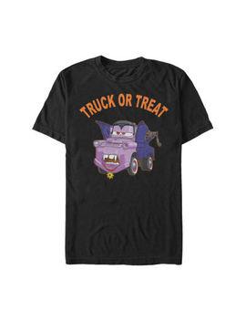 Disney Pixar Cars 2 Mater Vampire Halloween Mens Crew Neck Short Sleeve Cars Graphic T Shirt by Fifth Sun