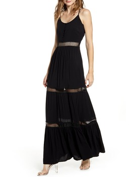 By Bb Dakota Sleeveless Eyelet Maxi Dress by Jack
