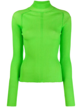 Ribbed Polo Neck Sweater by Acne Studios